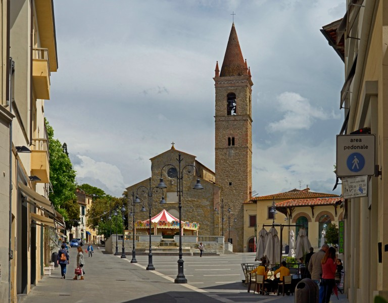 Church of St. Augustine in Arezzo, Italy