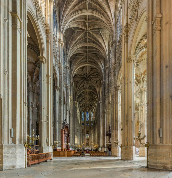 Church of St Eustace Interior, Paris, France - Diliff