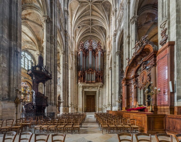 Church of St Eustace Organ and Pulpit, Paris, France - Diliff