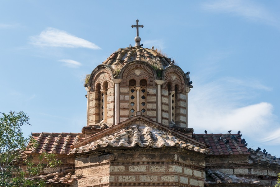 Church of the Holy Apostles back ancient agora Athens