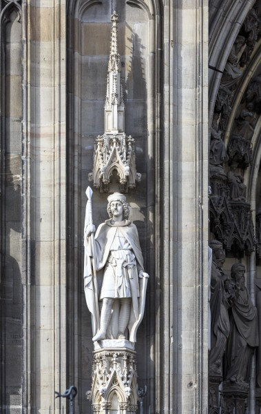 Cologne Germany Sculptures-at-the-south-facade-of-Cologne-Cathedral-01