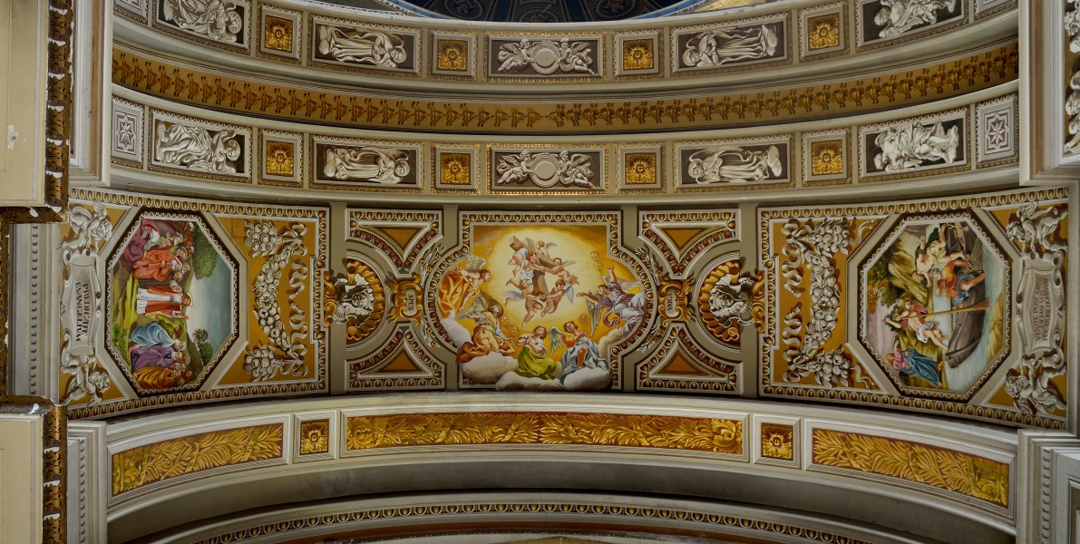 Decoration of the church of Sant'andrea (Subiaco)