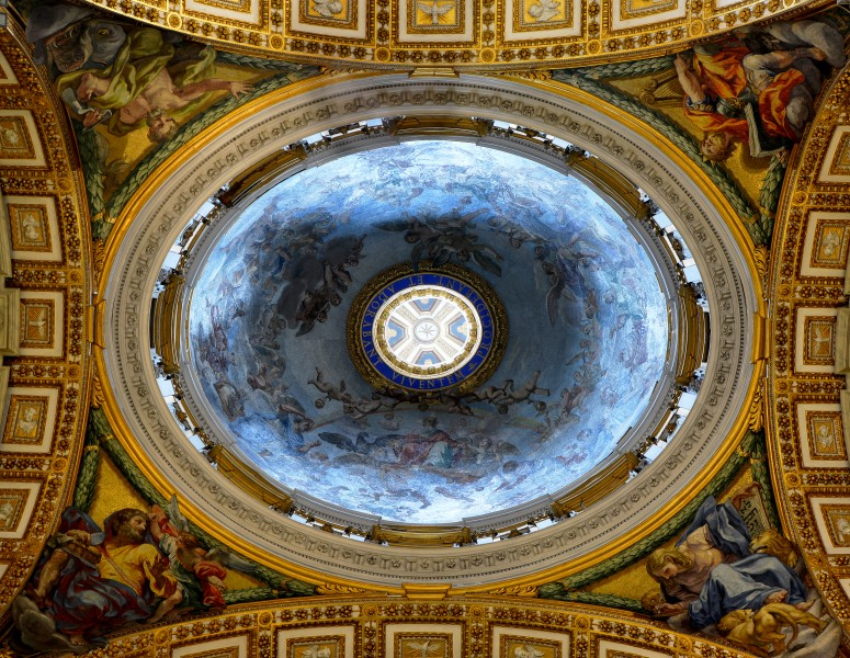 Dome of the Chapel of the Choir in Saint Peter's Basilica
