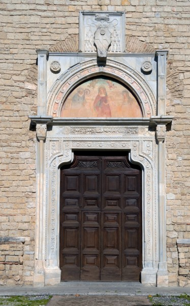 Door of the church in Abbazia di Farfa
