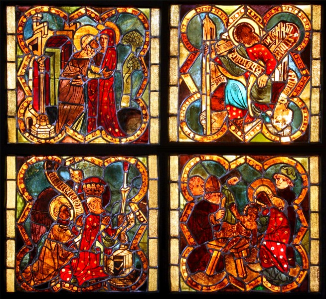Gothic stained glasses from St. Mary Church in Chełmno