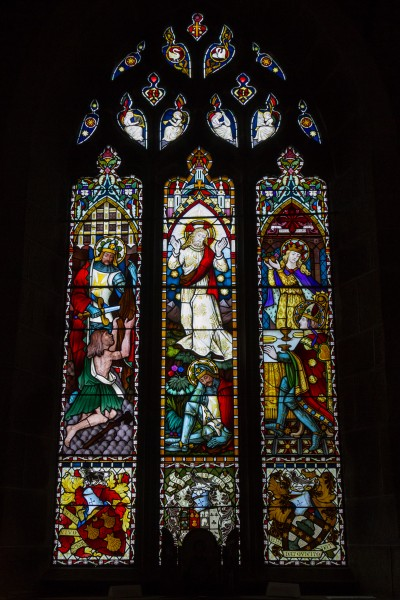 Grouville Church stained glass window 03