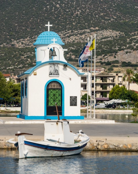 Harbour chapel, Nea Artaki, Evia Greece