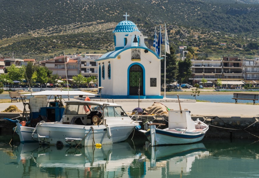 Harbour chapel Nea Artaki Euboea Greece