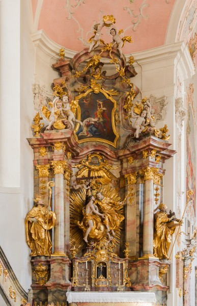 Holy Trinity altar, St Peter's and Paul's church, Oberammergau, Bavaria, Germany