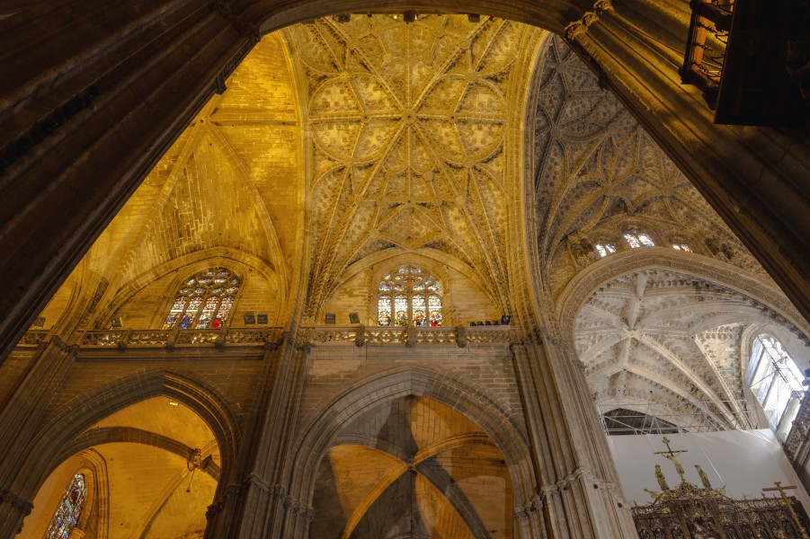 Inside the cathedral of Seville Andalusia Spain