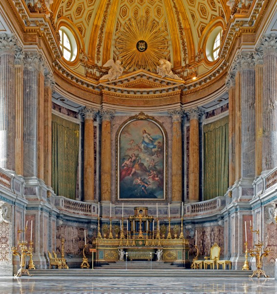 Interior of the Palace of Caserta - Palatine Chapel