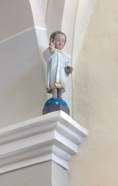 Jesus as a child in the Saint John the Baptist church in Freins