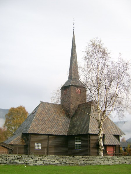 Kvam church, Nord-Fron, Norway (Rear)