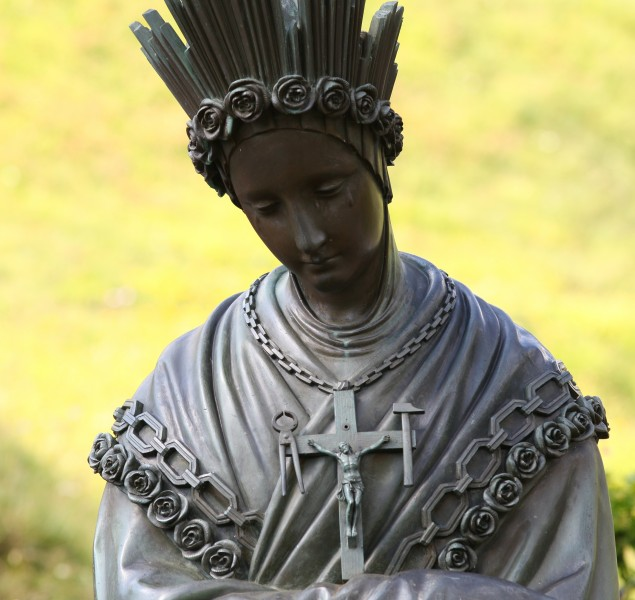 a statue near the La Salette sanctuary, France, Europe, August 2013, picture 3