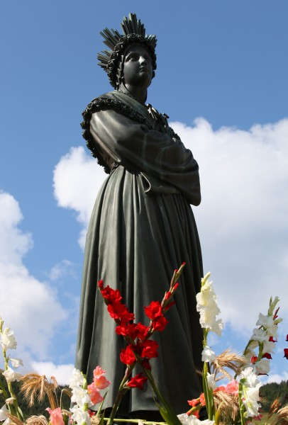 a statue in the La Salette sanctuary, France, Europe, August 2013, picture 12