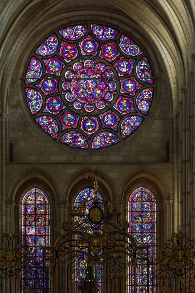 Laon Cathedral East Rose Window 01