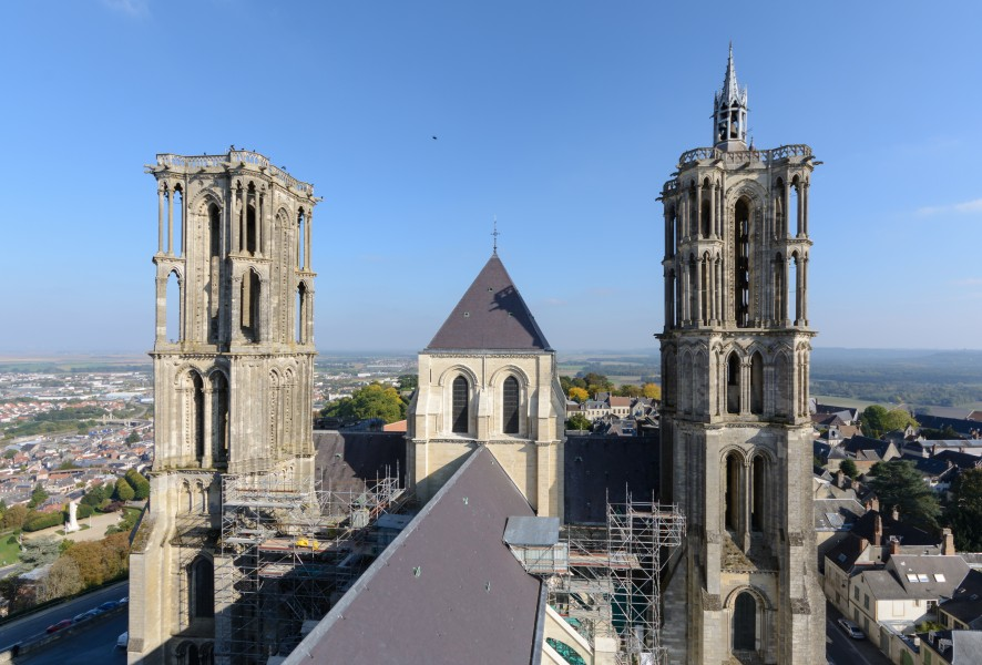 Laon Cathedral East Towers 02