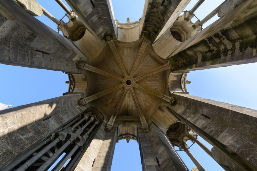 Laon Cathedral Southwest Tower Top Vault 01
