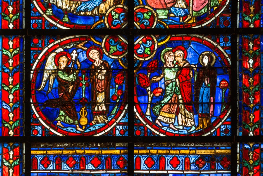 Laon Cathedral Stained Glass Window Central Aisle 01