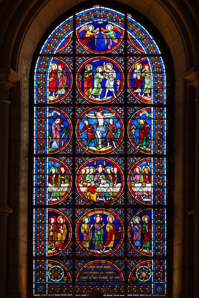 Laon Cathedral Stained Glass Window South Aisle 01