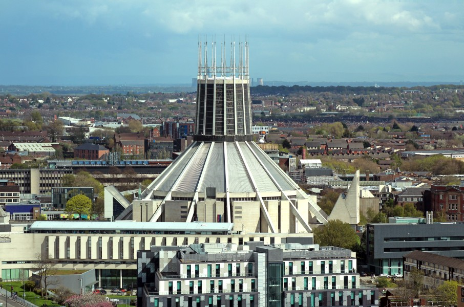Liverpool Metropolitan Cathedral from St John's Beacon 2