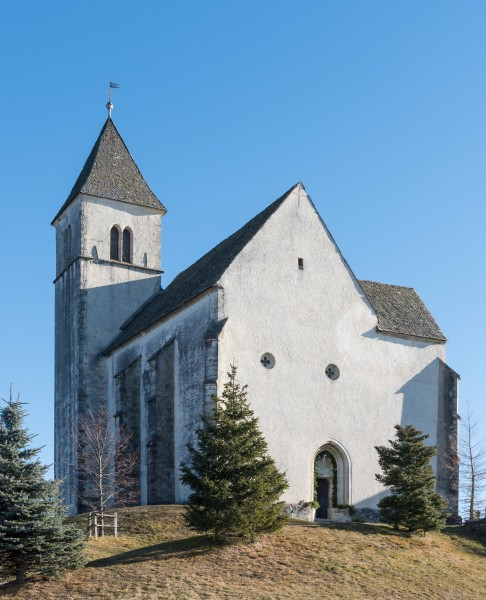 Magdalensberg Filialkirche hll Helena und Maria Magdalena NW-Ansicht 22122015 9773