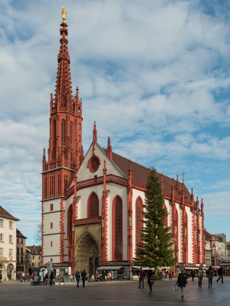 Marienkapelle Würzburg, South-West View 20140107 15