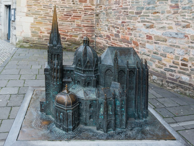 Modell of the Cathedral, Aachen, Germany