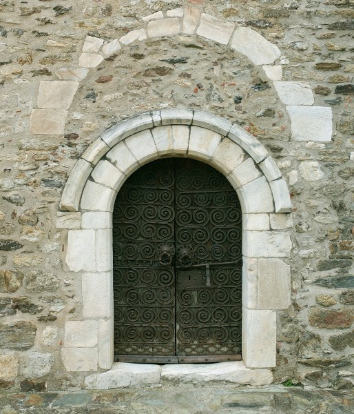 Montesquieu-des-Albères, church, portal