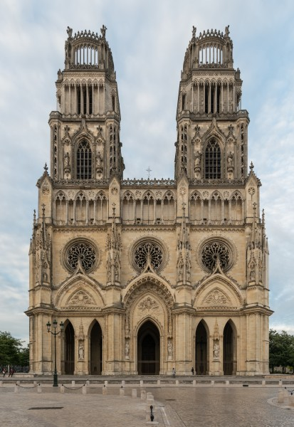 Orléans Cathedral, West view 20170609 1