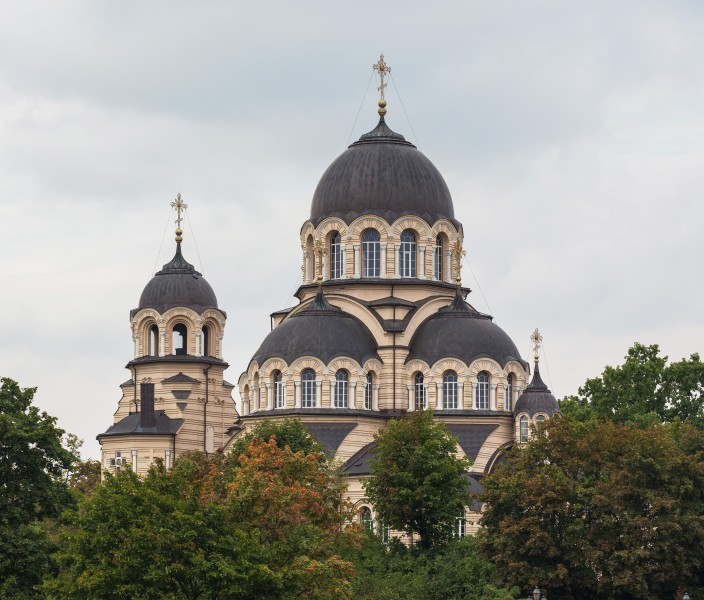 Orthodox Church of Revelation of the Holy Mother of God Domes, Vilnius, Lithuania - Diliff