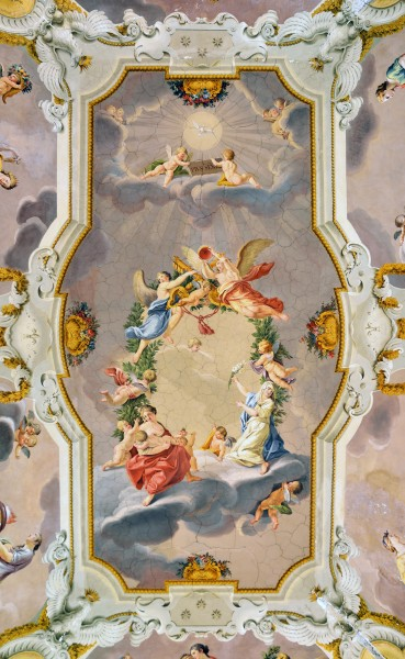 Painted ceiling of the throne room of Pope Pius VI in Rocca Abbey (Subiaco)
