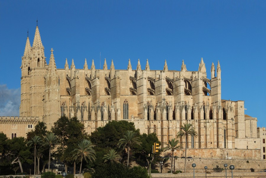Palma de Mallorca cathedral view from west