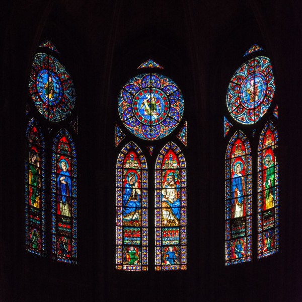 Paris Notre-Dame Apse Windows 01