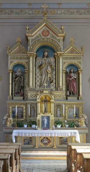 Parish church - Sacred Heart altar Urtijei