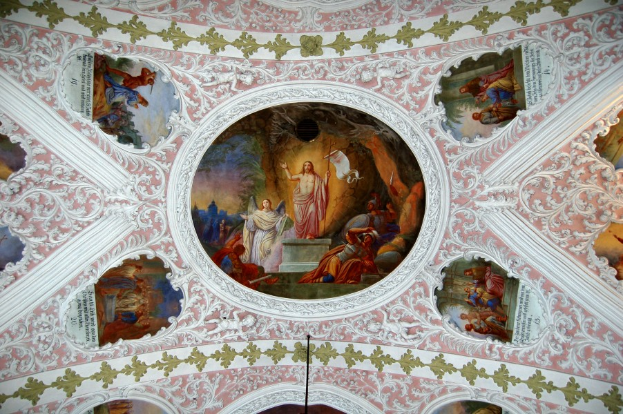 Parish church, Schalchen, stucco ceiling