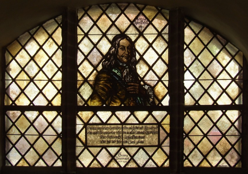 Paul Gerhardt Church (Lübben) - stained glass window (Georg Neumark)