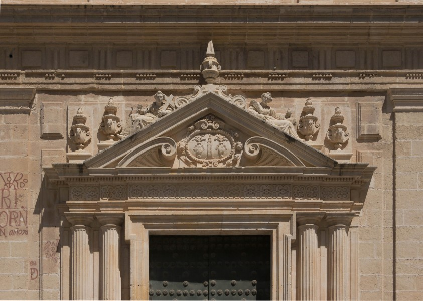 Pediment entrance cathedral Sevilla