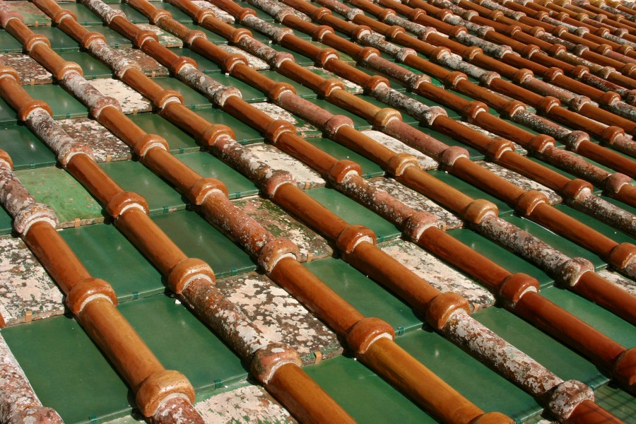 Roof tiles - Cathedral of Monreale - Italy 2015