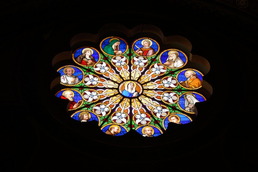 Rose window of the church Saint Mary above Minerva