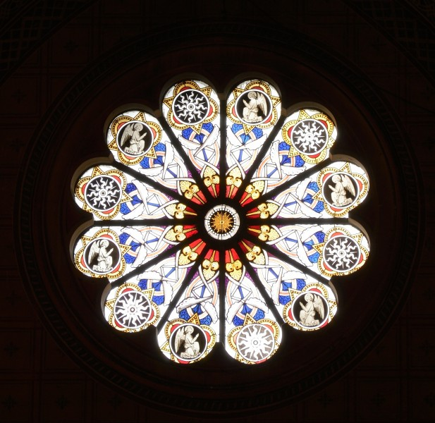 Rose window of the church Saint Mary above Minerva 2