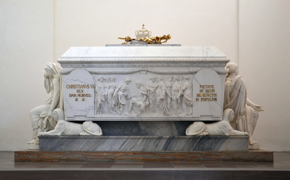 Roskilde cathedral - Christian VI tomb