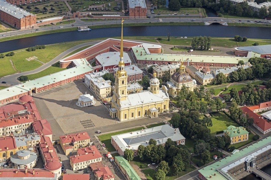RUS-2016-Aerial-SPB-Peter and Paul Cathedral