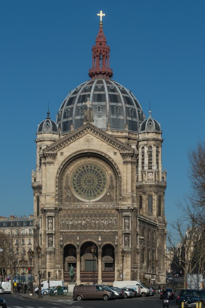 Saint-Augustin, Paris 8e, South view 20140203 1