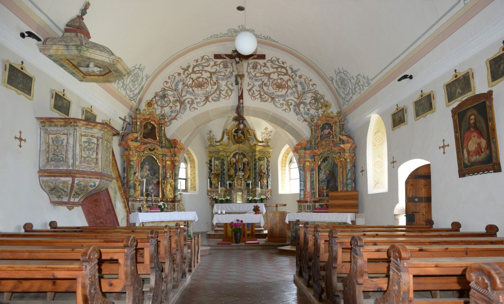 Saint Catherine church in Lajener Ried internal view