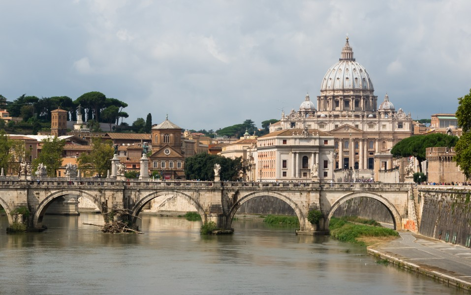 Saint Peter, Sant'Angelo bridge, Rome, Italy