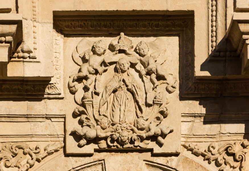 San Jeronimo church relief coronation Virgin Mary Granada Andalusia Spain