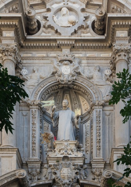 San Juan de Dios church statue entrance facade Granada Andalusia Spain