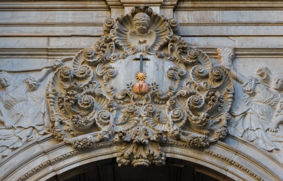 San Juan de Dios church volutes entrance facade Granada Andalusia Spain