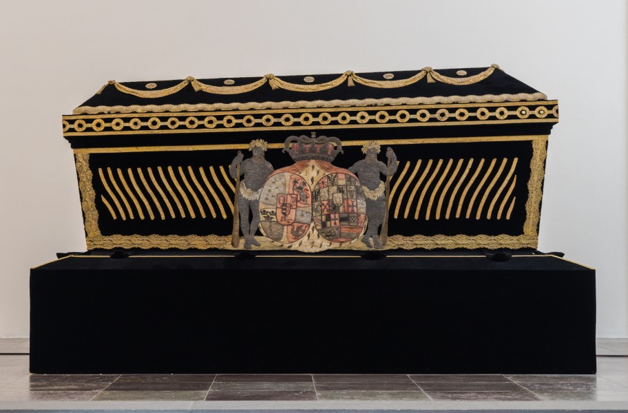 Sarcophagus Sophia Magdelene of Brandenburg-Kulmbach queen consort of king Christian 6 Roskilde cathedral Denmark